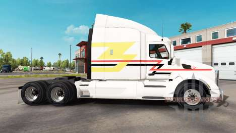 Skin Lines on the tractor Peterbilt for American Truck Simulator