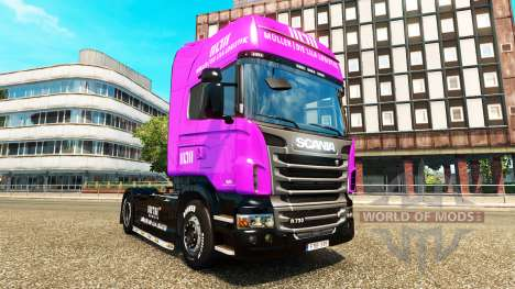 Muller skins for trucks MAN Scania and Volvo for Euro Truck Simulator 2