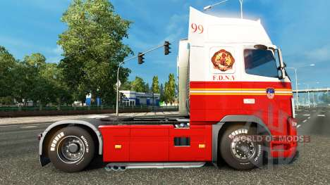 99 FDNY skin for Volvo truck for Euro Truck Simulator 2