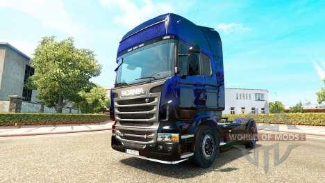 Blue Scorpion skin for Scania truck for Euro Truck Simulator 2