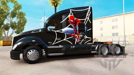 Spiderman skin for Kenworth tractor for American Truck Simulator