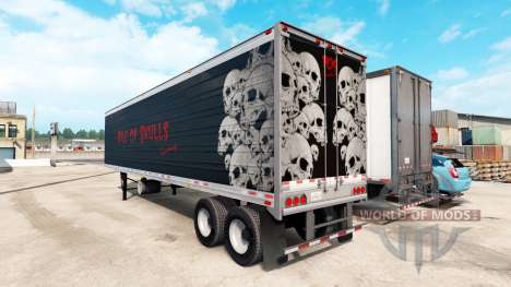 Refrigerated semi-trailer Pile of Skulls for American Truck Simulator