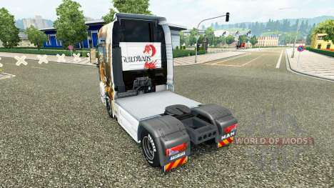 Skin Guild Wars 2 on the truck MAN for Euro Truck Simulator 2