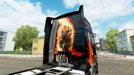 Fire skin for Volvo truck for Euro Truck Simulator 2