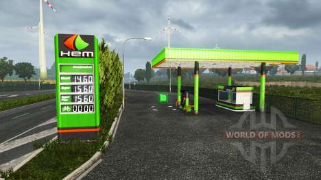 European petrol station for Euro Truck Simulator 2
