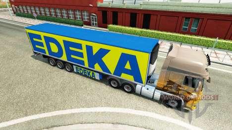 The semi-trailer EDEKA for Euro Truck Simulator 2