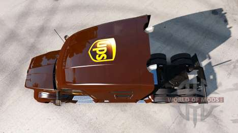 UPS skin for the Kenworth tractor for American Truck Simulator