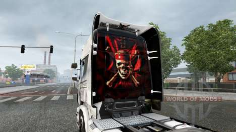 Skin Pirates of the Caribbean-on tractor for Sca for Euro Truck Simulator 2