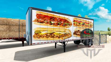 Skins American fast food trailers to for American Truck Simulator