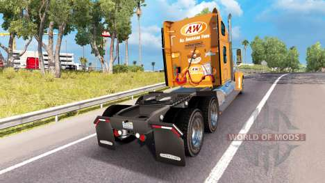 Skin A&W on the truck Freightliner Coronado for American Truck Simulator