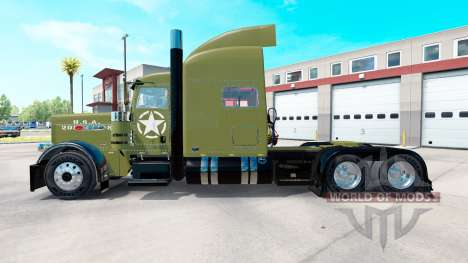 USA Army skin for Peterbilt 389 truck for American Truck Simulator