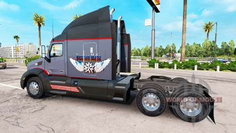 The Russian mafia skin for the truck Peterbilt for American Truck Simulator