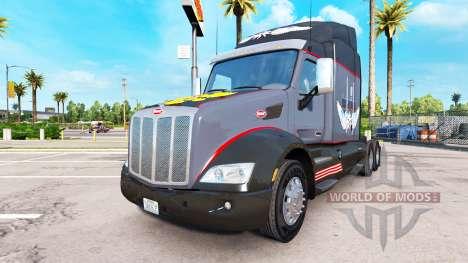 The Russian mafia skin for the truck Peterbilt for American Truck Simulator