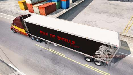 Refrigerated semi-trailer Pile of Skulls for American Truck Simulator