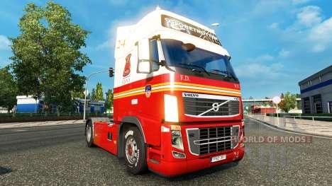 24 FDNY skin for Volvo truck for Euro Truck Simulator 2