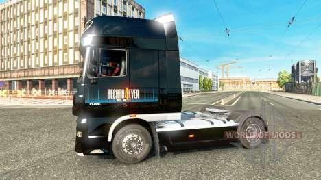 Techno4ever skin for DAF truck for Euro Truck Simulator 2