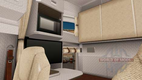 Light brown interior in Kenworth T680 for American Truck Simulator