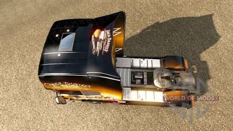 Jack Daniels skin for Scania truck for Euro Truck Simulator 2