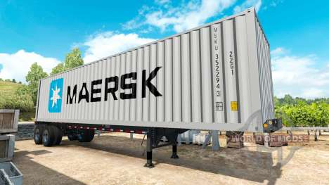 Semitrailer container v0.1 for American Truck Simulator
