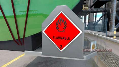 Signs of dangerous goods for American Truck Simulator