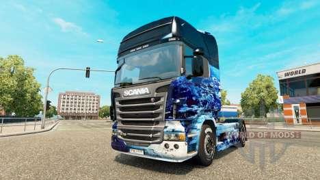 Earth skin for Scania truck for Euro Truck Simulator 2