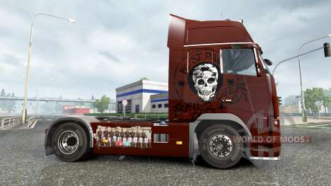 Skin FC St. Pauli on a Volvo truck for Euro Truck Simulator 2