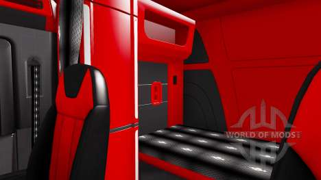Color of Peterbilt 579 interior in the style of  for American Truck Simulator