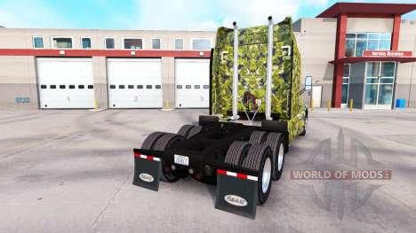 Army skin for Peterbilt truck for American Truck Simulator