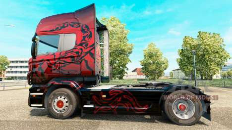 Red Scorpion skin for Scania truck for Euro Truck Simulator 2