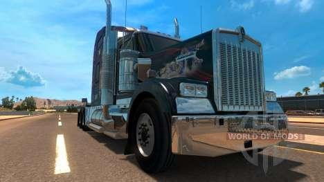 Kenworth W900 Jennifer Lopez Paint Skin for American Truck Simulator