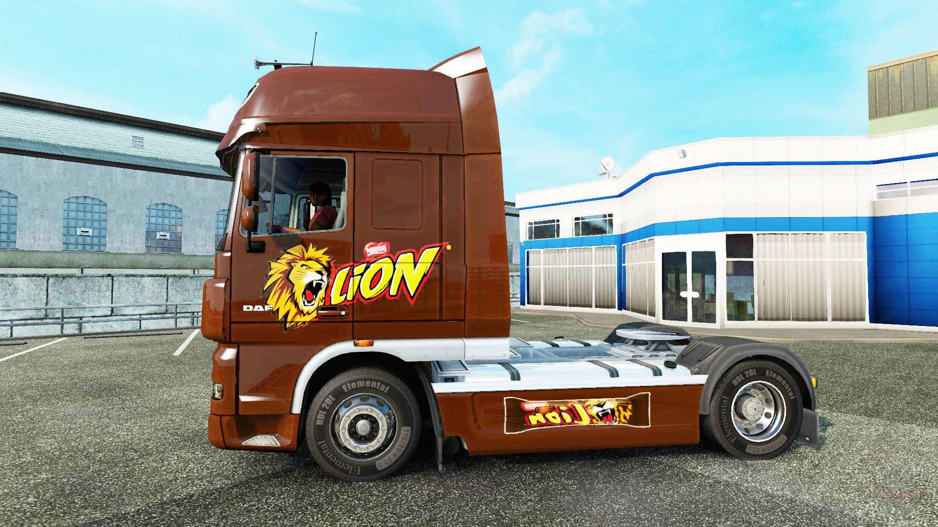 lion skin for daf truck for euro truck simulator 2. Black Bedroom Furniture Sets. Home Design Ideas