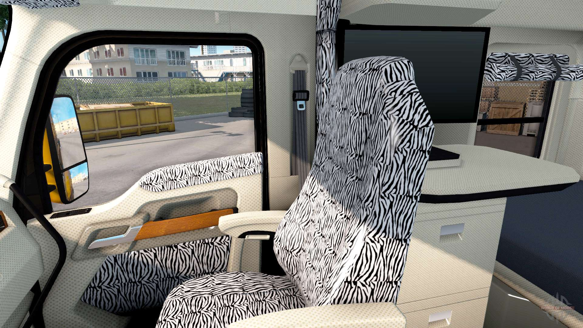 New colors interior Kenworth T680 for American Truck Simulator