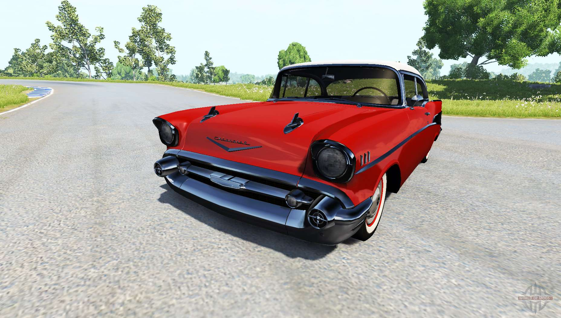 Dr Car: Chevrolet Bel Air Coupe 1957 For BeamNG Drive