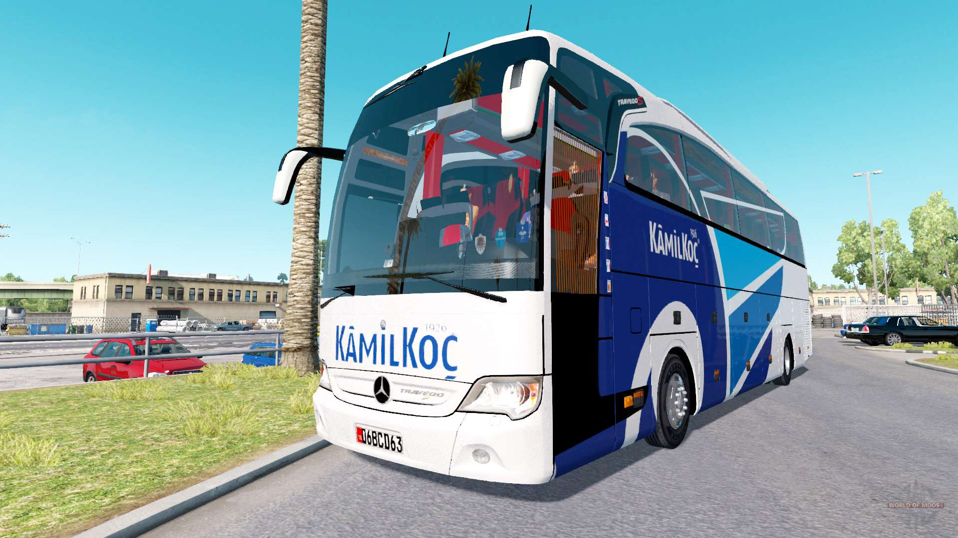 Mercedes benz travego for american truck simulator for Mercedes benz of america