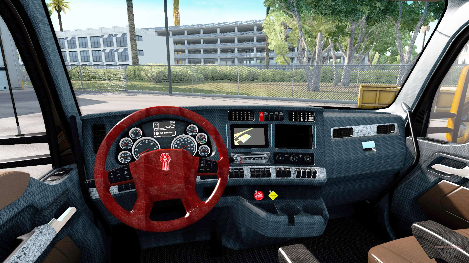 New colors interior kenworth t680 for american truck simulator for Camion americain interieur