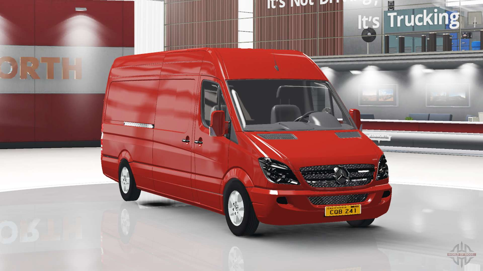 Mercedes benz sprinter lwb v1 1 for american truck simulator for Mercedes benz sprinter truck