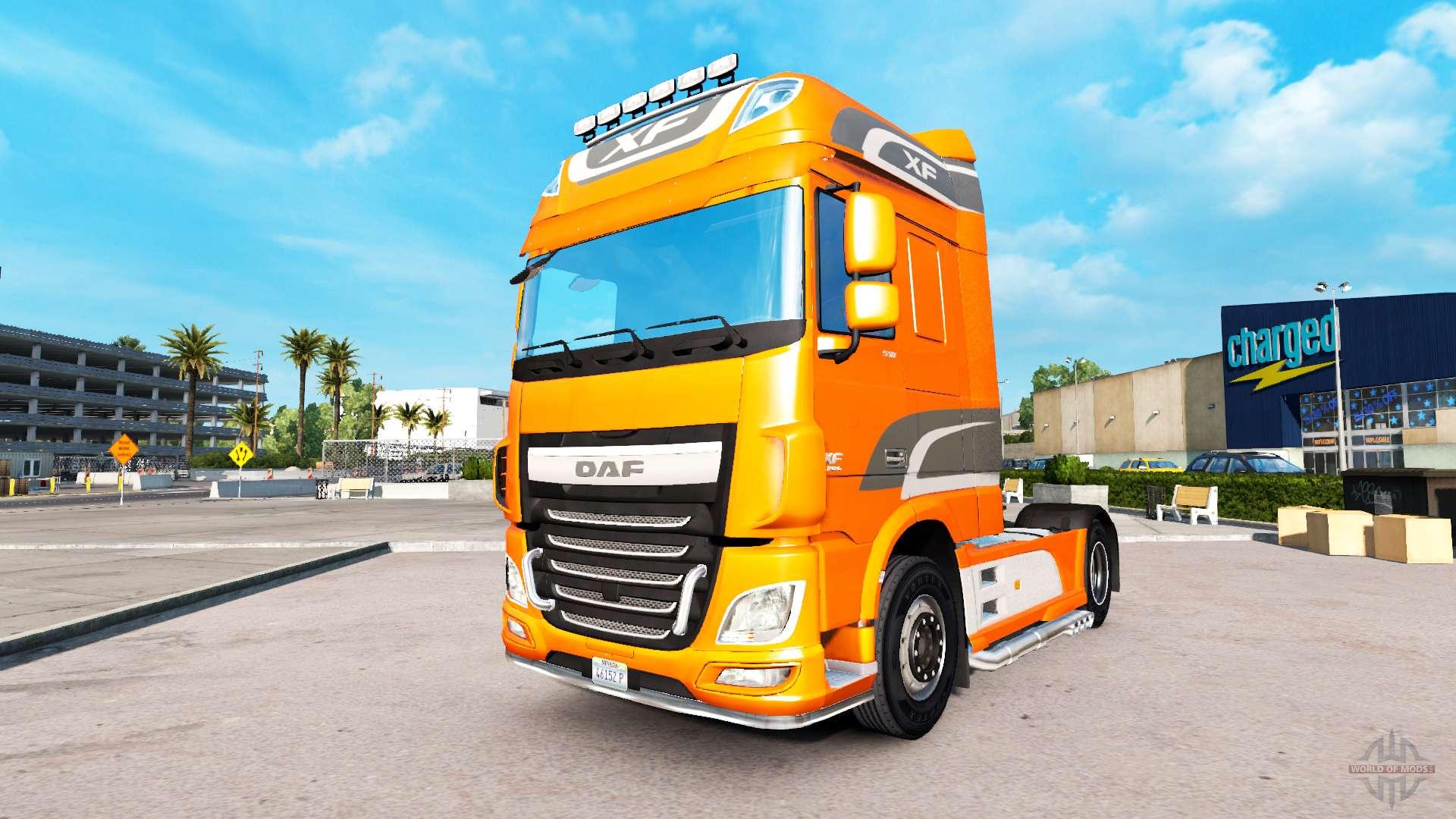 daf xf euro 6 for american truck simulator. Black Bedroom Furniture Sets. Home Design Ideas
