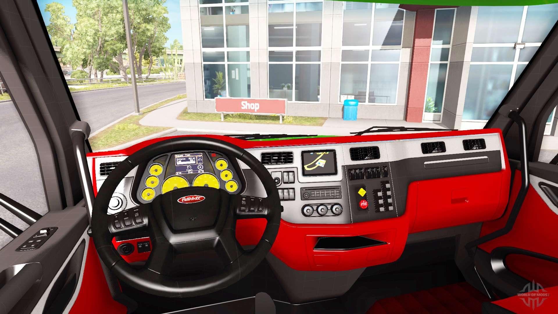 Color of Peterbilt 579 interior in the style of Ferrari for American Truck Simulator