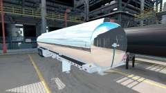 The chrome-plated tank semitrailer Heil [3 axles