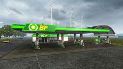 European petrol station