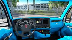 Blue Kenworth T680 interior