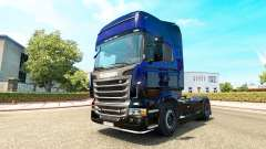 Blue Scorpion skin for Scania truck