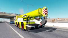 Mobile crane Liebherr in traffic