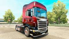 Red Scorpion skin for Scania truck