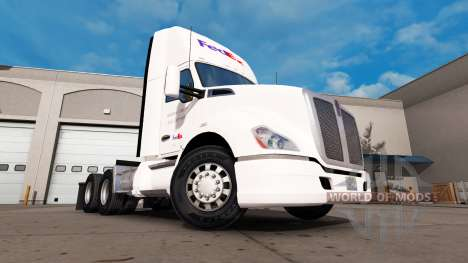 FedEx skin for the Kenworth tractor for American Truck Simulator