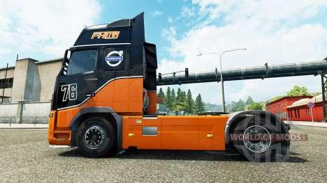 Racing Team skin for Volvo truck for Euro Truck Simulator 2