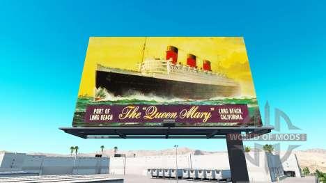 Advertising on billboards v1.1 for American Truck Simulator
