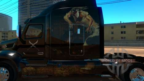 Perbilt 579 Rogue and Genie skin for American Truck Simulator