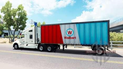 Skin Wallbert on a Kenworth tractor for American Truck Simulator