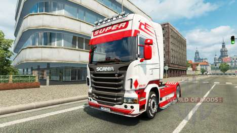 Holland Style skin for Scania truck for Euro Truck Simulator 2